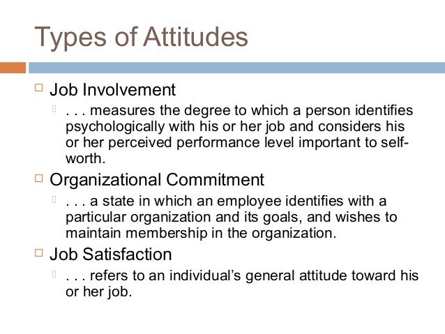 Commitment Vs Involvement: Values & Attitudes