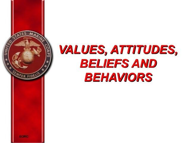 VALUES, ATTITUDES, BELIEFS AND BEHAVIORS  EORC