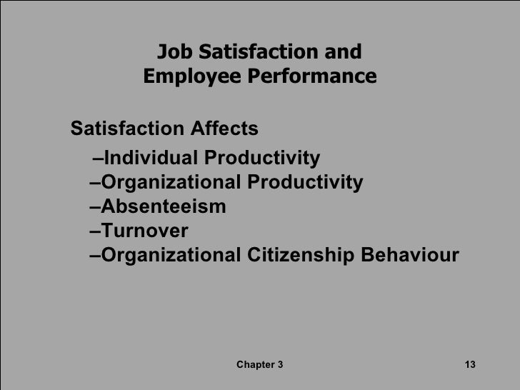 employee attitude and job satisfaction This paper aims to investigate the relations between employee corporate social responsibility (csr) attitudes on job satisfaction (js) and organizational commitment (oc) in the context of bangladeshi banks in the developing world specifically, it examines the relationship of csr attitudes with the three diverse aspects of.