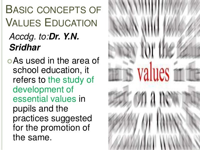 values education 5 basic concepts of values education