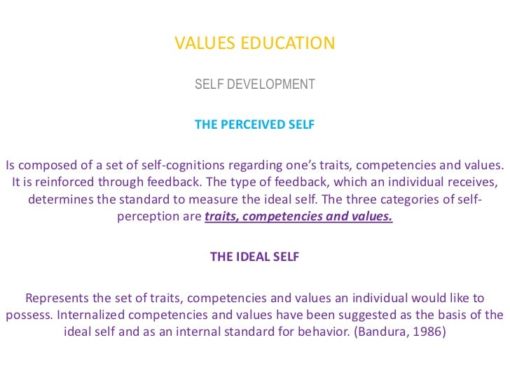 values education personhood development lecture  values education self development