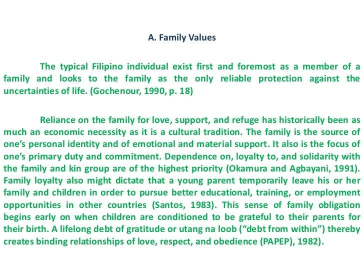 Family values essay