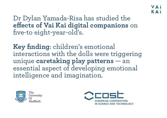 Dr Dylan Yamada-Risa has studied the effects of Vai Kai digital companions on five-to eight-year-old's. Key finding: childre...