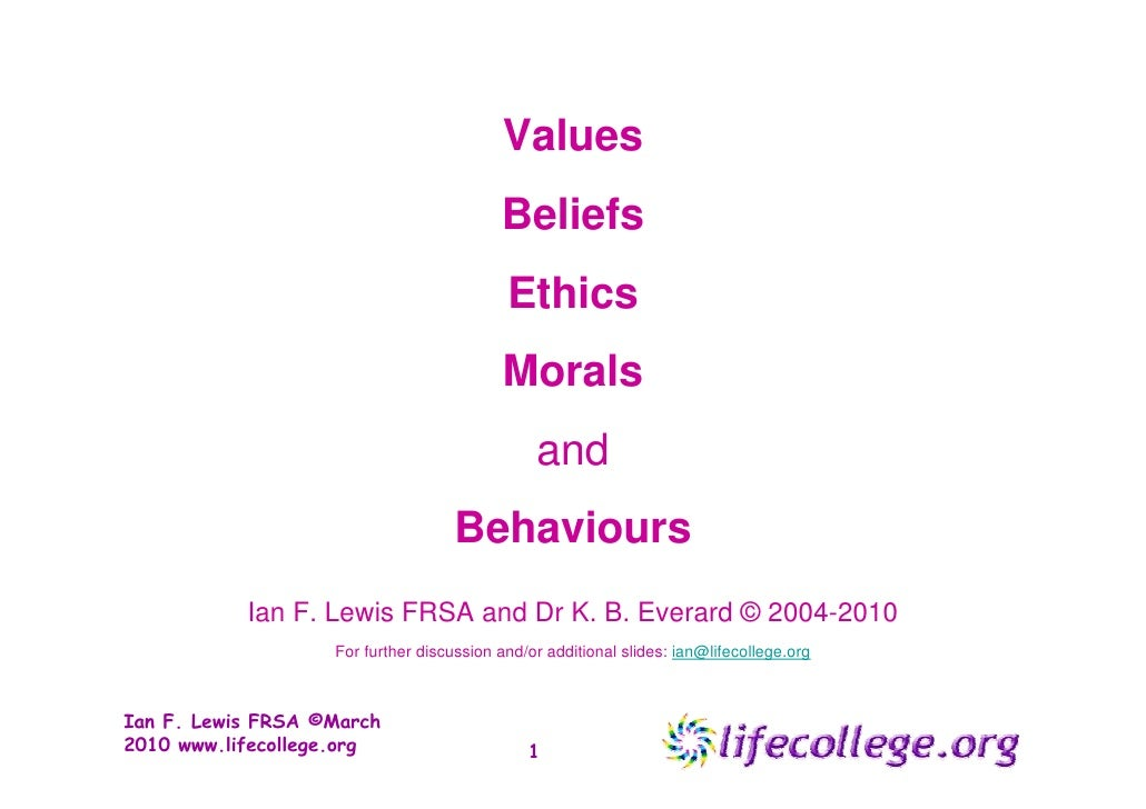 difference between ethics and values