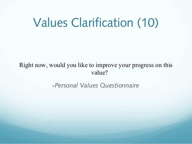 Sexual practices values clarification