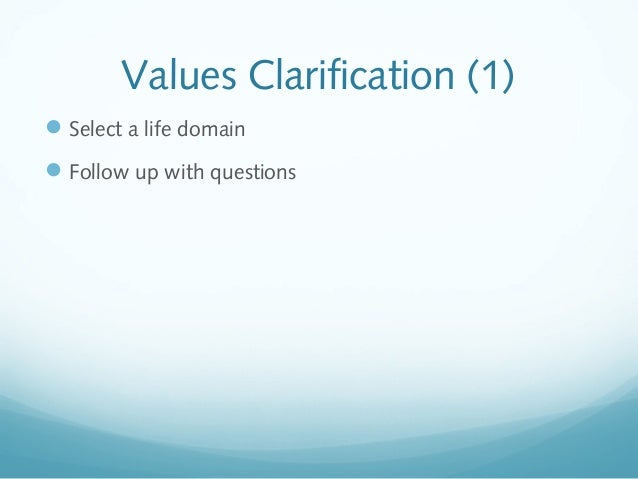 Sexual practices values clarification