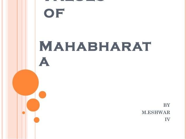V ALUESOFM AHABHARATA                BY          M.ESHWAR                IV