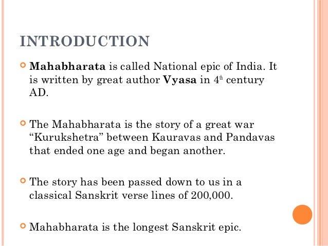 mahabharata in english