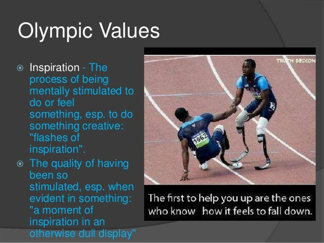 Olympic Inspiration: Values