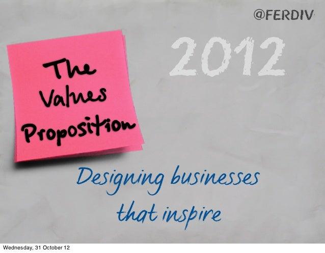 @ferdiv          alues               The                  2012        V       Proposition                           Design...