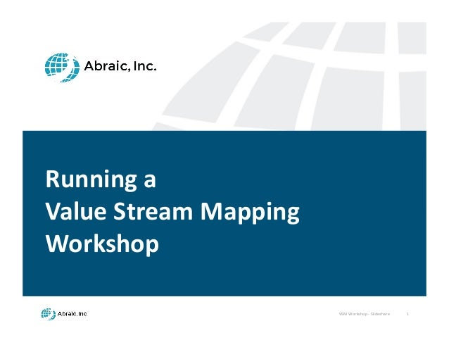 VSM	   Workshop	   -­‐ Slideshare 1 Running	   a	    Value	   Stream	   Mapping	    Workshop