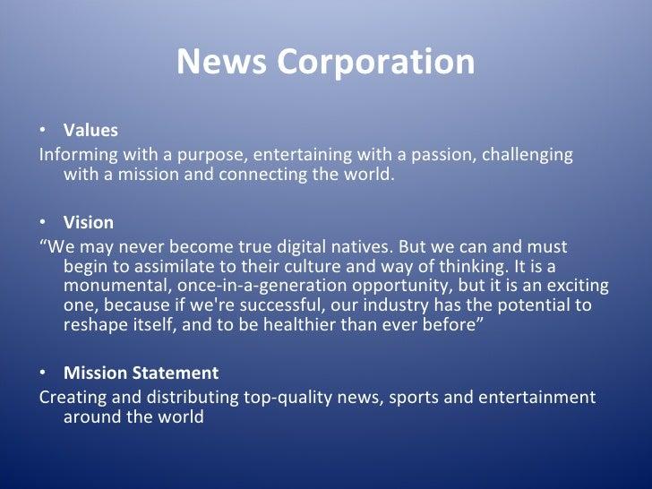 Values Vision Mission Statement