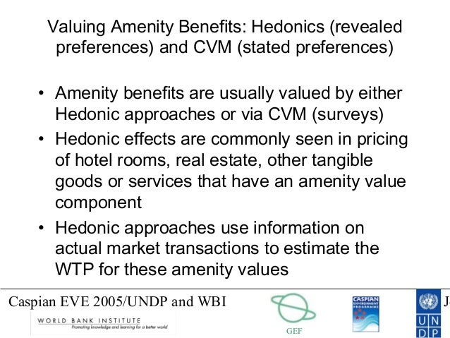 hedonic pricing of hotel rooms To achieve the objective the hedonic pricing model is used (rosen, 1974) the   between the hotel star rating variable and other accommodation attributes.