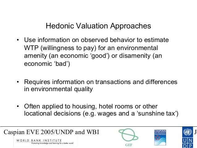 hedonic pricing of hotel rooms A number of valued attributes determine the room rates that hotels charge these attributes include not only room quality characteristics, but also access to various shared hotel facilities, service quality, and access to amenities beyond the hotel itself using a hedonic price function approach.