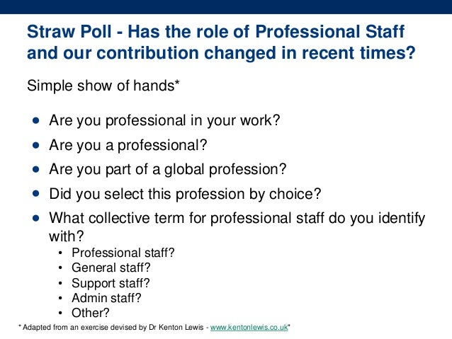 Valuing professional staff in higher education august atem