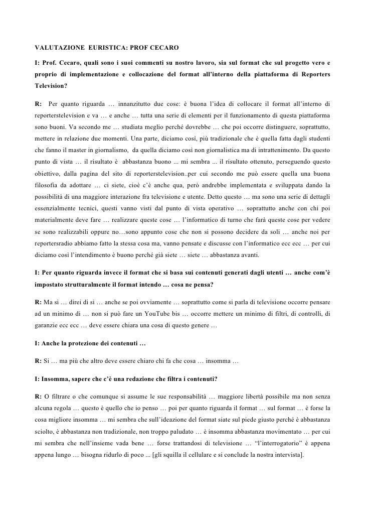 Valutazione Al Prof Cecaro