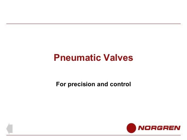 Pneumatic Valves For precision and control