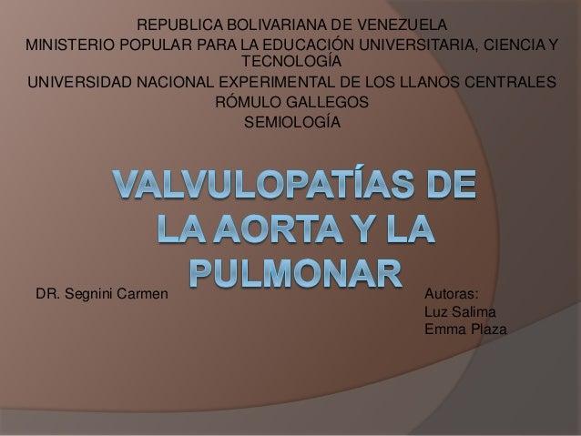 REPUBLICA BOLIVARIANA DE VENEZUELA MINISTERIO POPULAR PARA LA EDUCACIÓN UNIVERSITARIA, CIENCIA Y TECNOLOGÍA UNIVERSIDAD NA...
