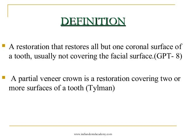partial veneer crowns /certified fixed orthodontic courses by Ind…
