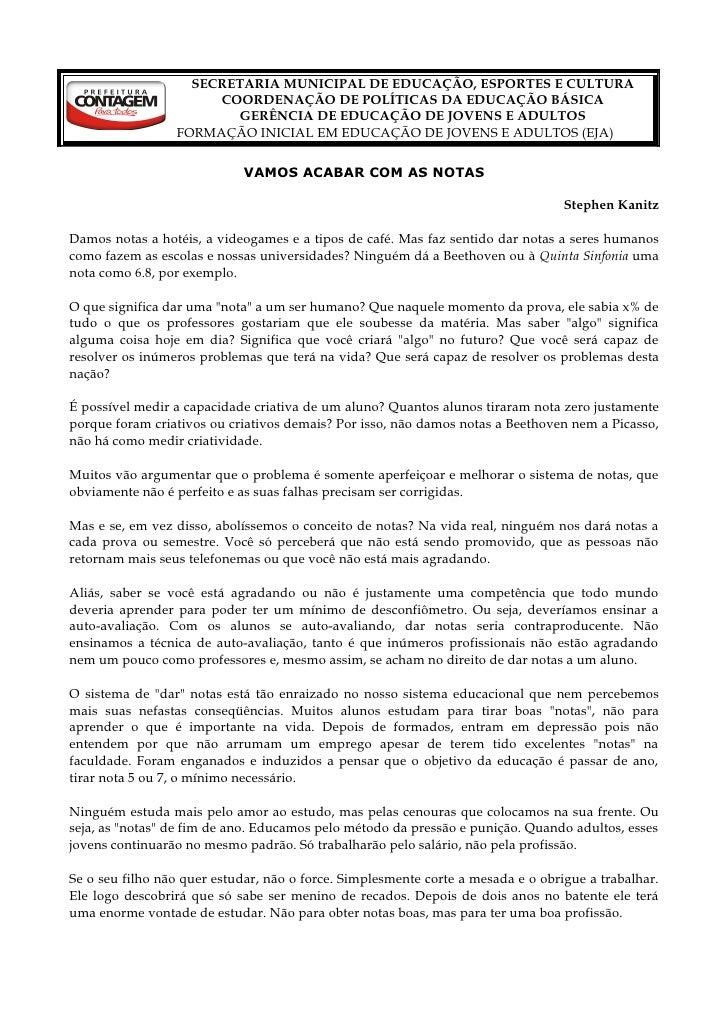 SECRETARIA MUNICIPAL DE EDUCAÇÃO, ESPORTES E CULTURA                       COORDENAÇÃO DE POLÍTICAS DA EDUCAÇÃO BÁSICA    ...