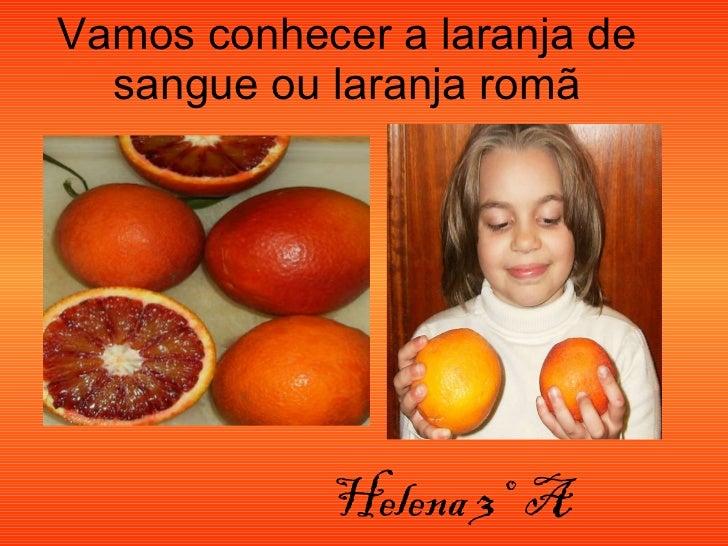 Vamos conhecer a laranja de sangue ou laranja romã Helena 3º  A