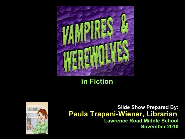 Slide Show Prepared By: Paula Trapani-Wiener, Librarian   Lawrence Road Middle School November 2010 in Fiction