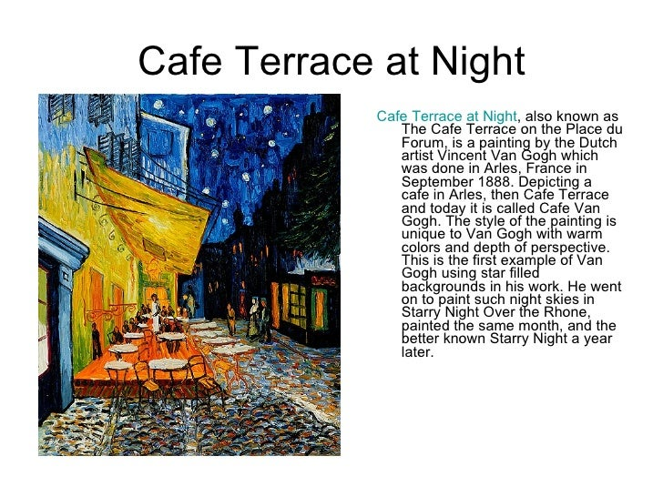 Cafe terrace at night cafe for Terrace night