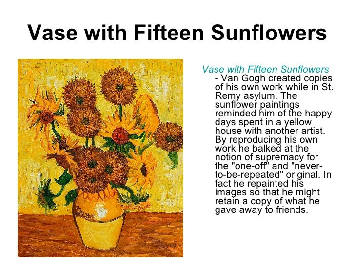 Vase With Fifteen Sunflowers Ullivase