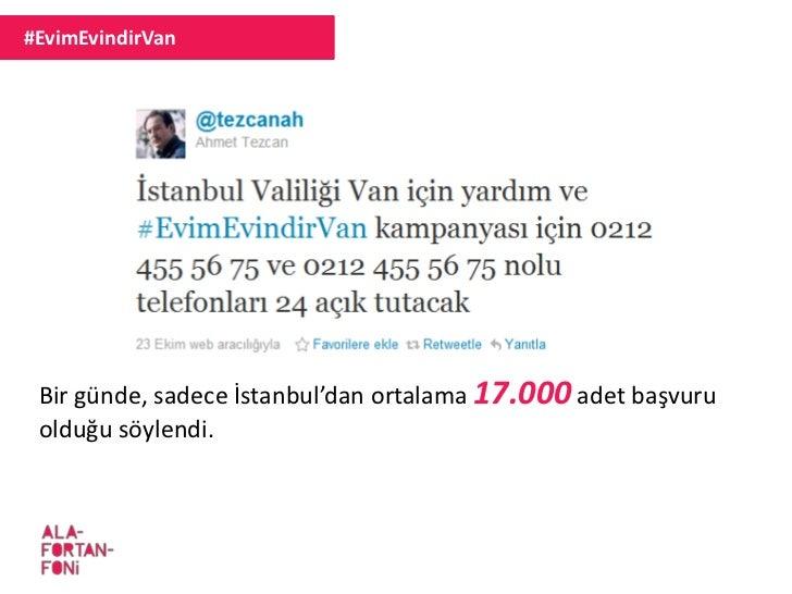 #EvimEvindirVan Bir günde, sadece İstanbul'dan ortalama 17.000 adet başvuru olduğu söylendi.