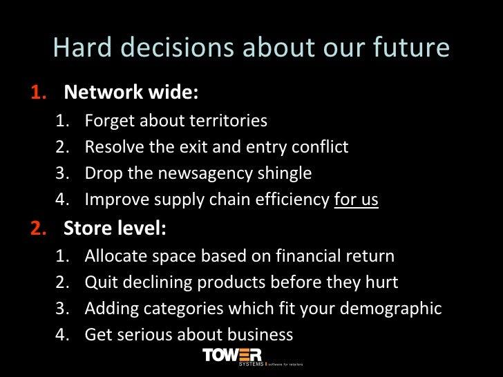 Hard decisions about our future <ul><li>Network wide: </li></ul><ul><ul><li>Forget about territories </li></ul></ul><ul><u...