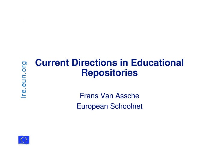 Current Directions in Educational lre.eun.org                             Repositories                          Frans Van ...