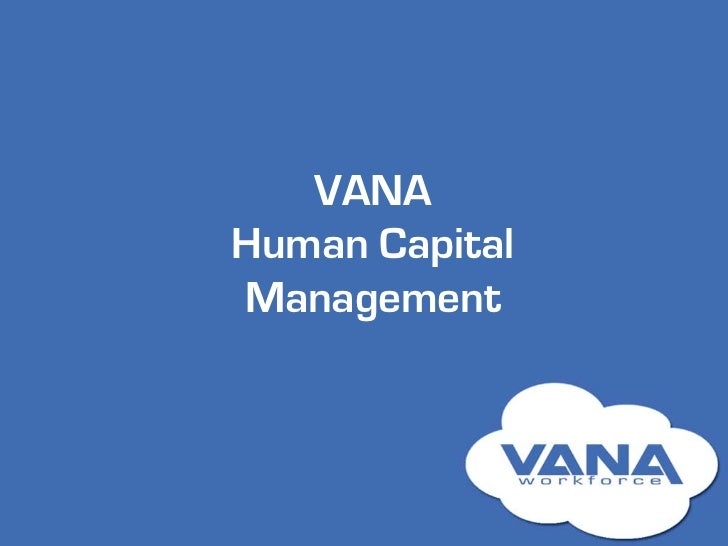 VANAHuman CapitalManagement