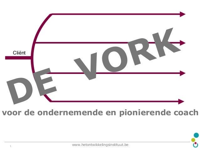 Cliënt  E D  K R O V  voor de ondernemende en pionierende coach  www.hetontwikkelingsinstituut.be