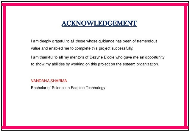 Fashion Technology Portfolio Vandana Sharma BSc