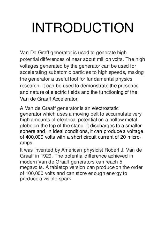 van de graaff generator