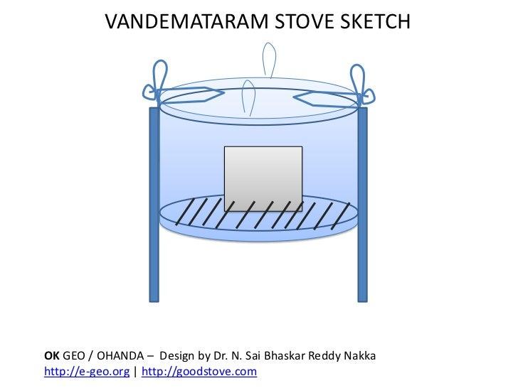 VANDEMATARAM STOVE SKETCH<br />OK GEO / OHANDA –  Design by Dr. N. SaiBhaskar Reddy Nakka<br />http://e-geo.org | http://g...