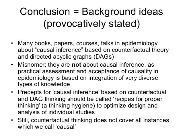 counterfactual thinking essay Event causation: the counterfactual analysis the counterfactual analysis of event causation is tion can be squared with our ordinary ways of thinking.