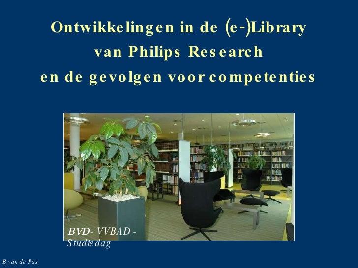 Ontwikkelingen in de wetenschappelijke bibliotheek, wat vraagt dat van de ontwikkeling van competenties van de medewerkers?