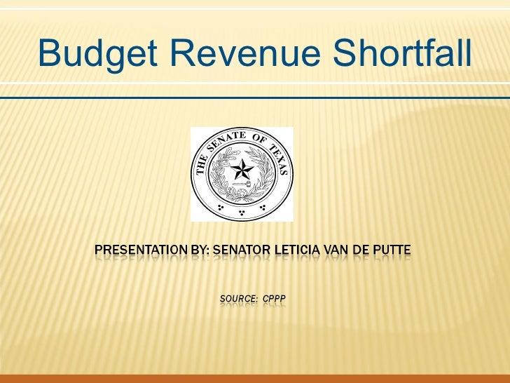 Budget Revenue Shortfall