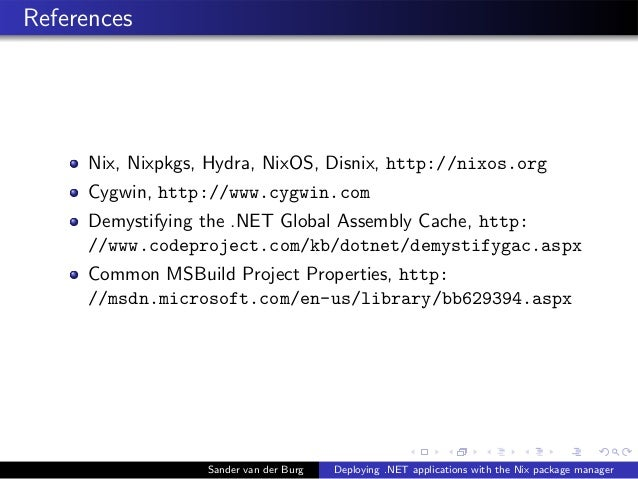 Deploying  NET applications with the Nix package manager