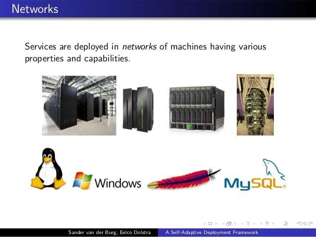 Networks Services are deployed in networks of machines having various properties and capabilities. Sander van der Burg, Ee...