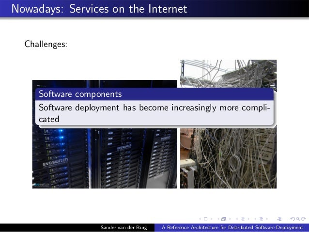 Nowadays: Services on the Internet Challenges: Sander van der Burg A Reference Architecture for Distributed Software Deplo...