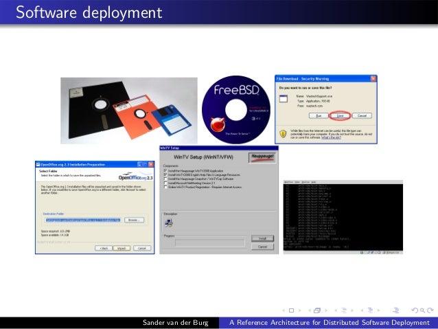 Software deployment Sander van der Burg A Reference Architecture for Distributed Software Deployment