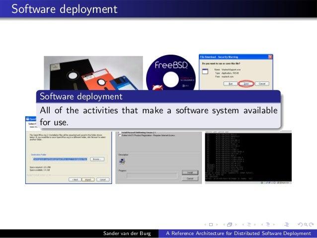 Software deployment Sander van der Burg A Reference Architecture for Distributed Software Deployment Software deployment A...