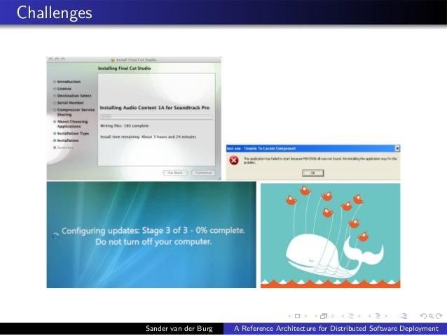 Challenges Sander van der Burg A Reference Architecture for Distributed Software Deployment