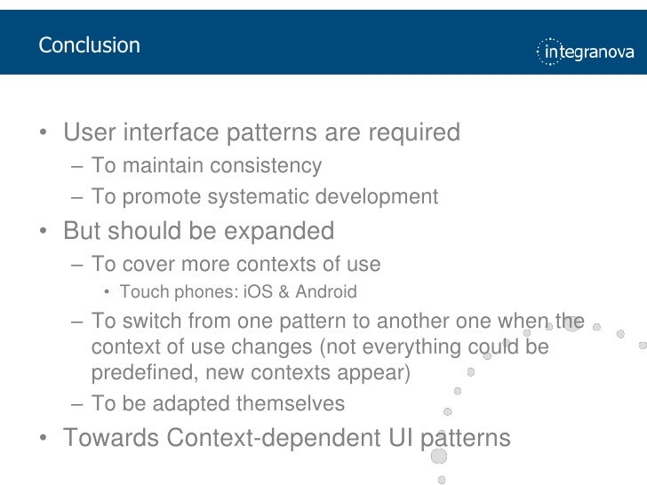 Reduced workload</li></ul>54<br />Step 4. Which User Interface pattern is usable?<br />