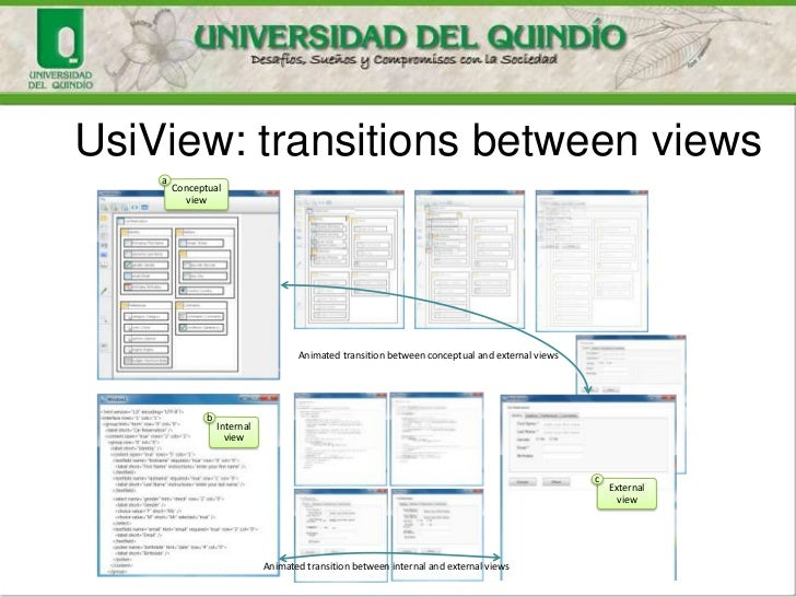 UsiView: transitions between views    a        Conceptual           view                                     Animated tran...