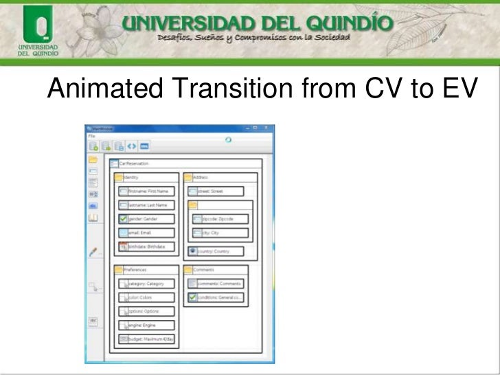 Animated Transition from CV to EV
