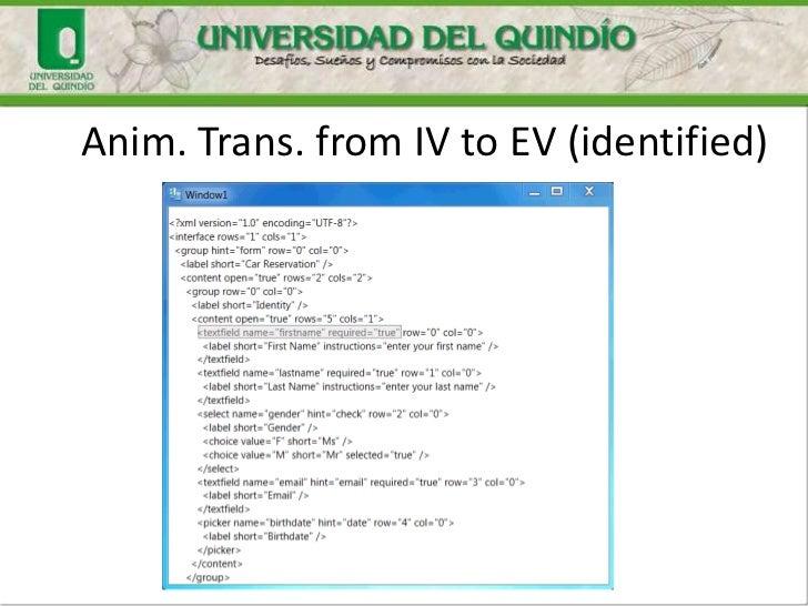 Anim. Trans. from IV to EV (identified)