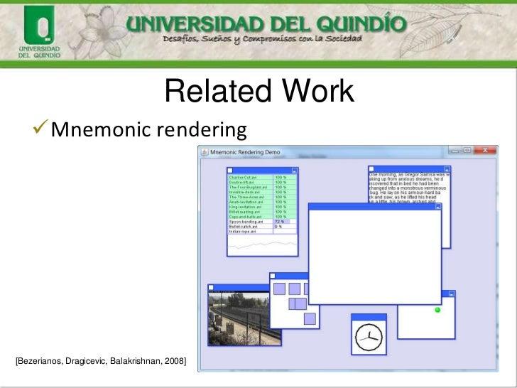 Related Work    Mnemonic rendering[Bezerianos, Dragicevic, Balakrishnan, 2008]